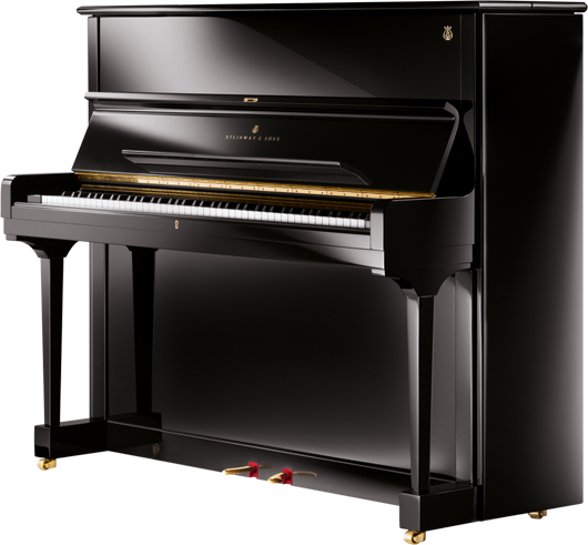 A first-step, smaller upright of unmistakable Steinway quality.